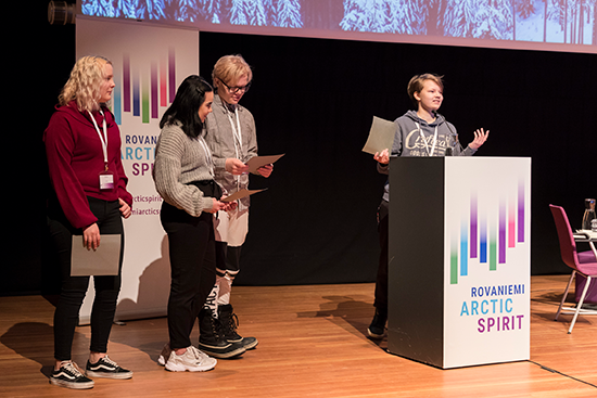 Youth Declaration in Rovaniemi Arctic Spirit Conference 2019. Photo by Marko Junttila.